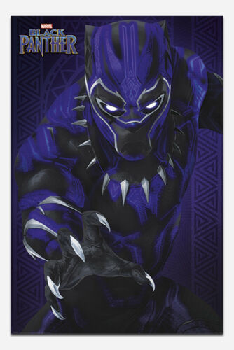 Black Panther Glow Marvel Poster New Maxi Size 36 x 24 Inch