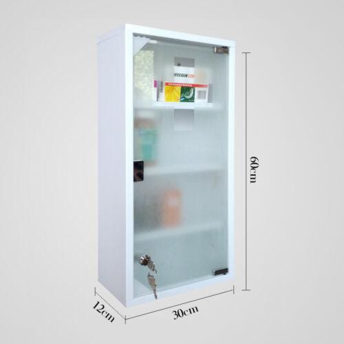 Stylehome® Medizinschrank Edelstahl Arzneischrank Erste Hilfe Schrank matt Glas