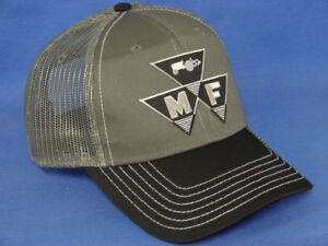 d5bb6be2 Massey Ferguson Hat - Black/White/Charcoal Twill & Mesh - Triangle ...