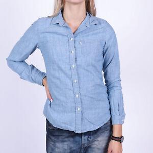 Levi-039-s-Tailored-Fit-Damen-Two-tone-blau-Formal-Hemd-Groesse-XS
