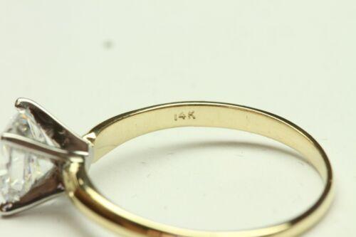 1.00 CT CUSHION CUT ENGAGEMENT RING  14 KARAT SOLID YELLOW GOLD