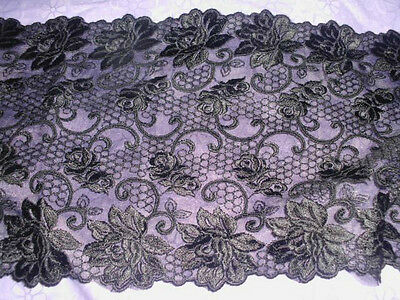 18.2cm embrodiery tulle lace trim 3/4 yard item no 12282