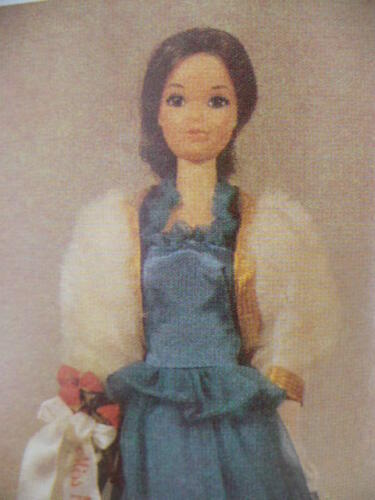BARBIE MAJECTIC BLUE DRESS  PATTERN
