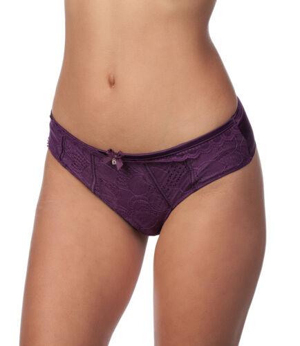 Panache Masquerade Angie Lace Overlay Thong Panty Underwear 7179