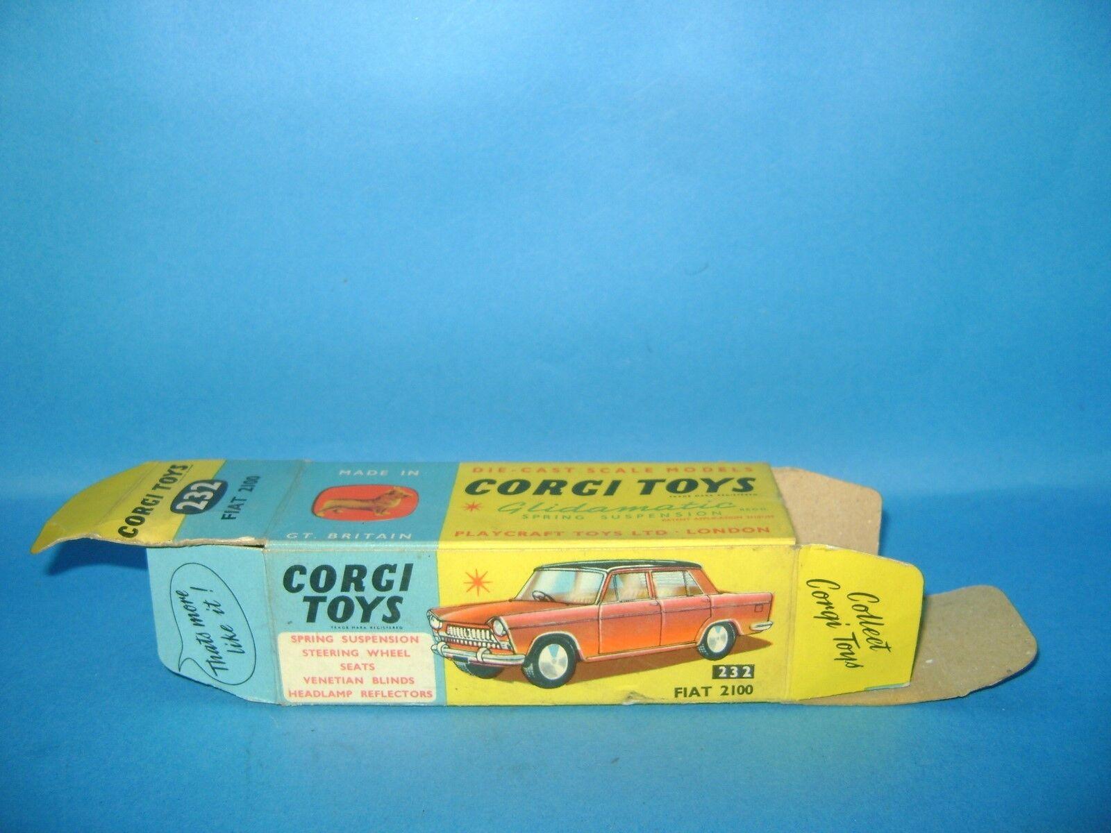CORGI TOYS 232 BOITE VIDE D'ORIGINE FIAT 2100 -EMPTY BOX