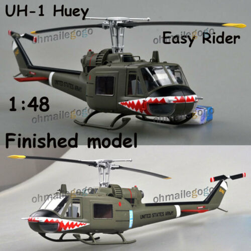 1:48 UH-1 Iroquois Huey easy rider shark mouth finished Easy model helicopter