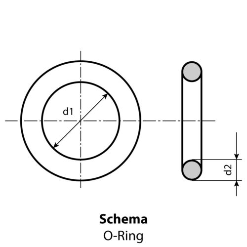 Menge 2 Stück Dichtring O-Ring 53 x 2 mm FKM 80 braun oder schwarz