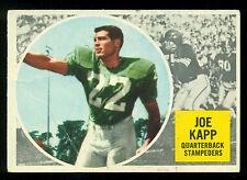 1960 TOPPS CFL FOOTBALL 25 JOE KAPP RC VG-EX STAMPEDERS B C LIONS VIKINGS rookie
