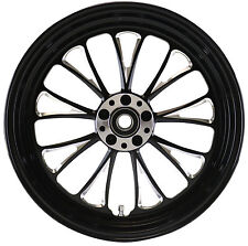 MANHATTAN FRONT BLACK WHEEL 18 X 3.5 HARLEY SOFTAIL FLST FLSTC HERITAGE 00-06