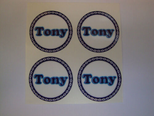 TONY   12  NEW CROWN GREEN BOWLS STICKERS  1