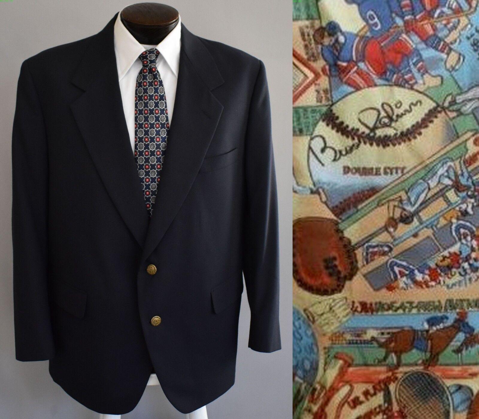 Vintage 90s Palm Beach Sport Coat Blazer of Champions Navy bluee Size 44R 44 Reg