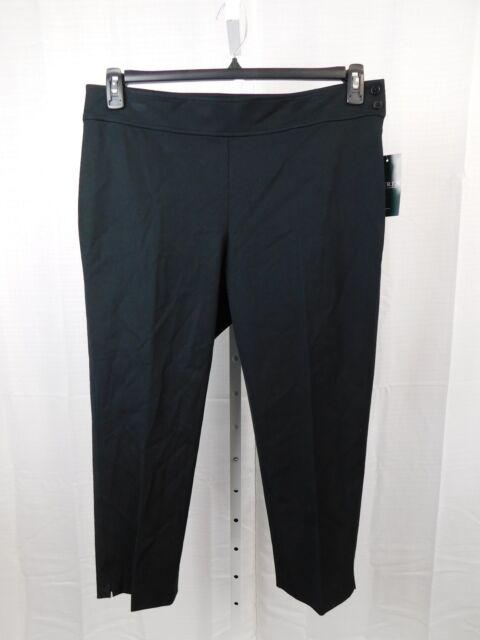 5f73177d748 Lauren Ralph Lauren Plus Size Stretch Slim Fit Cropped Leggings 14w Black   2652
