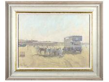 Ian Cryer - 'Beach Scene' - Original Oil on Canvas, Signed, Cornish Art Interest