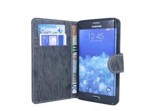 Book-Style-Handyhuelle-Schale-fuer-Samsung-Galaxy-Note-EDGE-N915F-Anthrazit