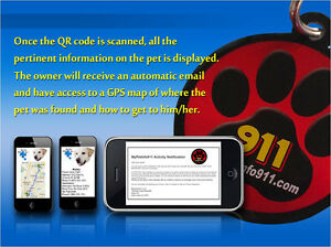 SALE! PET ID TAG Charm with QR Code Locator GPS NO MONTHLY FEE Plus Free Gift!
