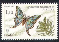 Francia 1980 Mariposa/Insecto/Conservación/Ambiente 1v (n28774)