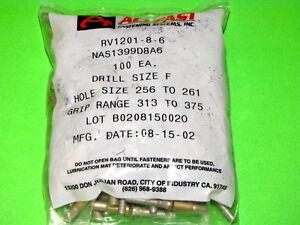 CR2172-8-06 Pack of 100 ALLFAST CHERRYLOCK BLIND RIVET NAS1399D8A6