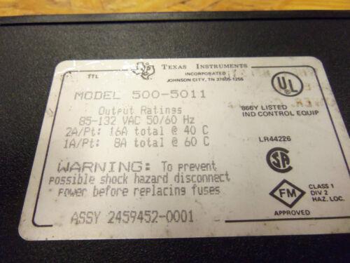 texas instruments card module plc 500-5011 5005011 output 2459452-0001
