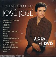 NEW - Lo Esencial De Jose Jose CD 3 CDs + 1 DVD 22 video