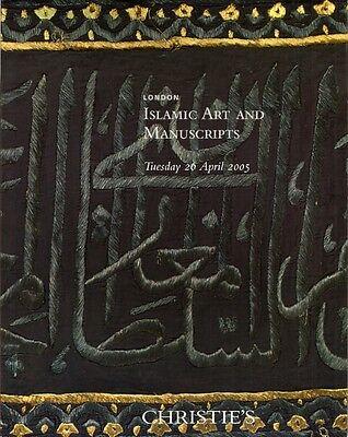 CHRISTIE'S ISLAMIC ART MANUSCRIPT Jewels Arms Pottery Tiles Auction Catalog 2005