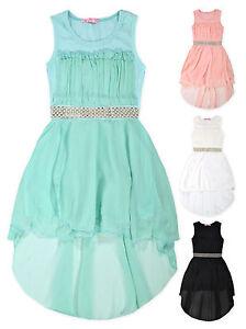 Girls-Sleeveless-Chiffon-Skirt-Party-Dress-New-Kids-Summer-Dresses-Ages-3-12-Yrs