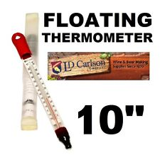 FLOATING THERMOMETER LD CARLSON GLASS 0F TO 220F/-20C to105C BEER WINE MOONSHINE