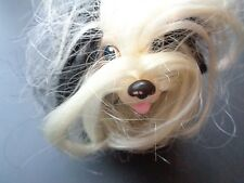 RARE VINTAGE HASBRO SWEETIE PUP SHIH TZU BLACK PUPPY DOG WHITE CURLY FUR TOY