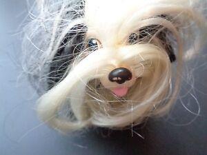 Rare Vintage Hasbro Sweetie Pup Shih Tzu Black Puppy Dog White Curly