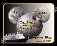 8x10 Custom Disney Cruise Magnet - Star Wars Theme - Dream Fantasy Magic Wonder