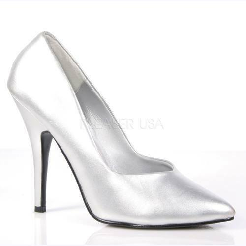PLEASER SEDUCE-420 Pump Silber Klassisch Elegant Cyber Disco Cosplay Disco Cyber Tabledance b7e8d0