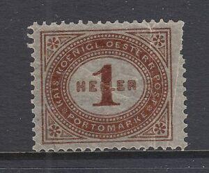 Austria Sc J22 var MNH. 1899 Postage Due printed on Gum Side