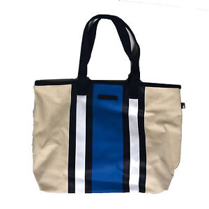 Image Is Loading Tommy Hilfiger Womens Tote Bag Shoulder Purse Canvas