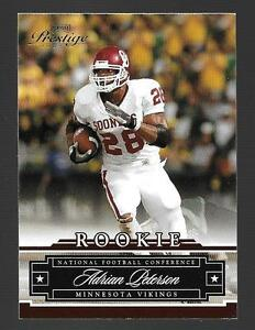 Details About 2007 Playoff Prestige Adrian Peterson Rookie Card