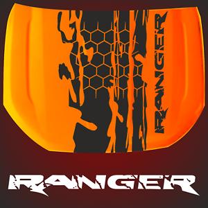 Aufkleber-Ranger-Motorhaube-passt-fuer-Ranger-2AB-Farbspur-4x4-Sticker-4-x-4-US