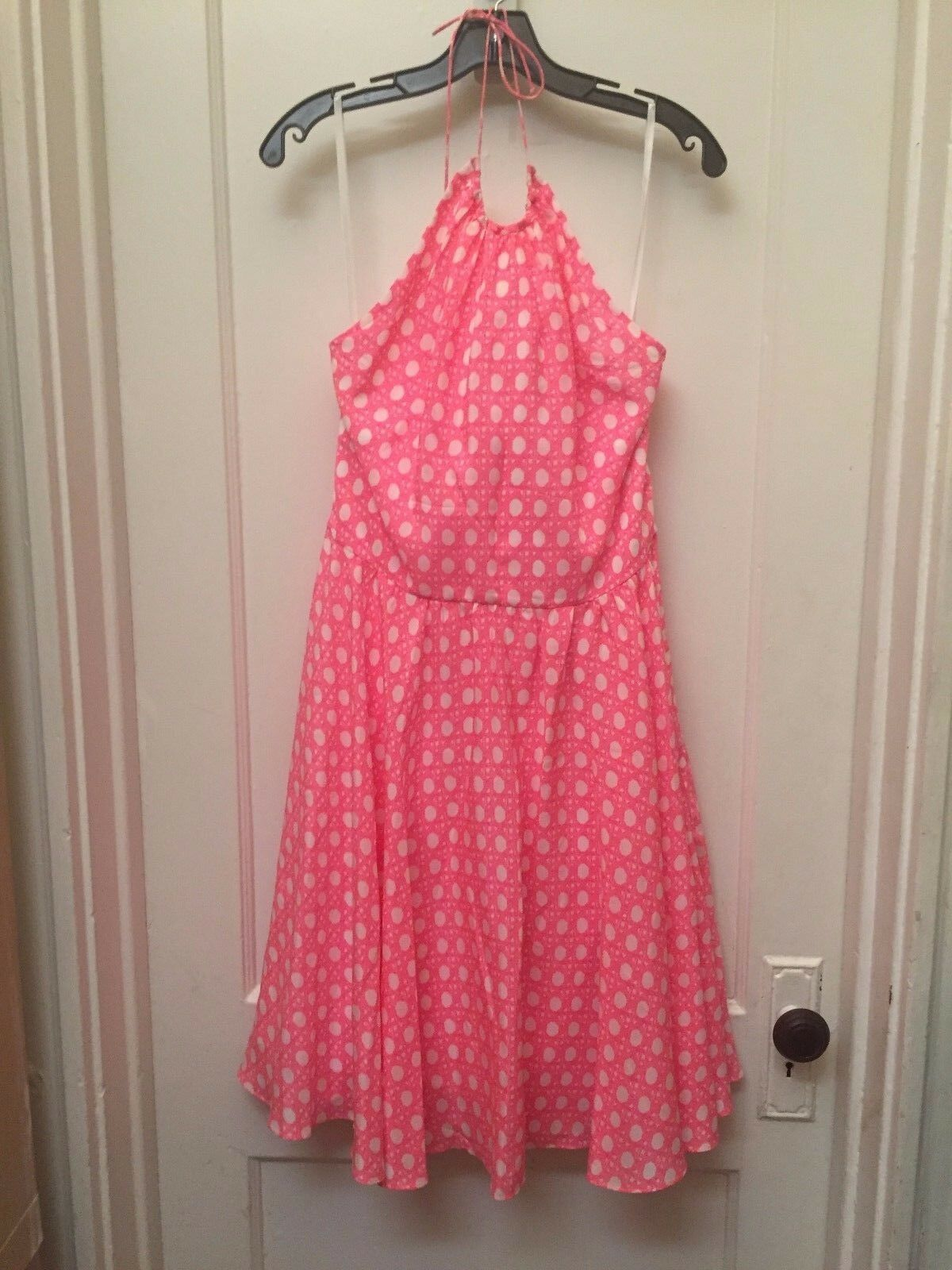 VINEYARD VINES SILK HALTER DRESS CANING PRINT NEW SIZE 10  228.00