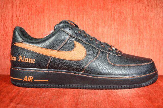 NEW Nike Vlone x Air Force 1 Low Size 14 AA5360 001 Black Orange