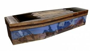 Details about COWBOY WESTERN Personalised Design Cardboard Picture Coffin /  Casket