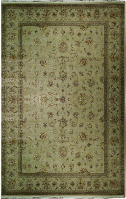 10x15 Room: 10x15.6 Wool & SILK NEW HAND MADE Rug NICE SOFT CLEAN