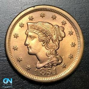 1851-Braided-Hair-Large-Cent-MAKE-US-AN-OFFER-B6004