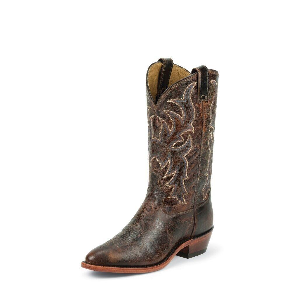 Tony Lama para Hombre Rico Marrón botas Cowboy pista Suave Medio Punta rojoonda - 7975