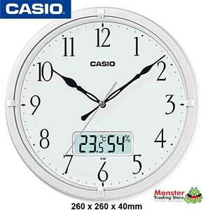 AUSSIE-SELER-CASIO-WALL-CLOCK-IC-02-7DF-WITH-THERMOMETRE-amp-HUMIDITY-WARANTY