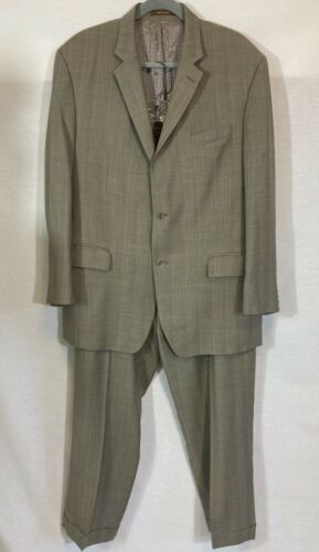Michael Kors Men's Suit Jacket Beige Plaid size me