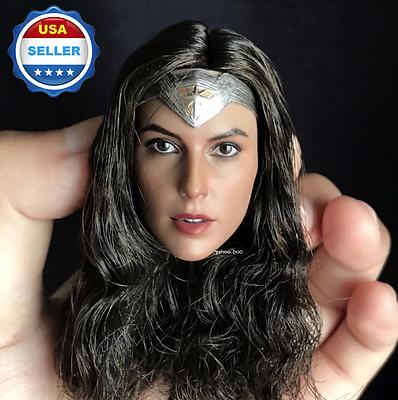 1//6 Gal Gadot Female Head Sculpt C For Wonder Woman SUNTAN TBLeague PHICEN ❶USA❶