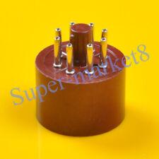 2pcs Brown Red Vintage Tube 8pin Octal Base Socket EL34 6CA7 6SN7 KT88 6L6 KT66