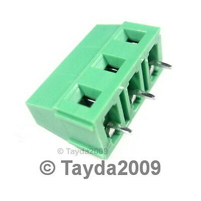 5 x DG128 Screw Terminal Block 3 Positions 5mm - FREE SHIPPING