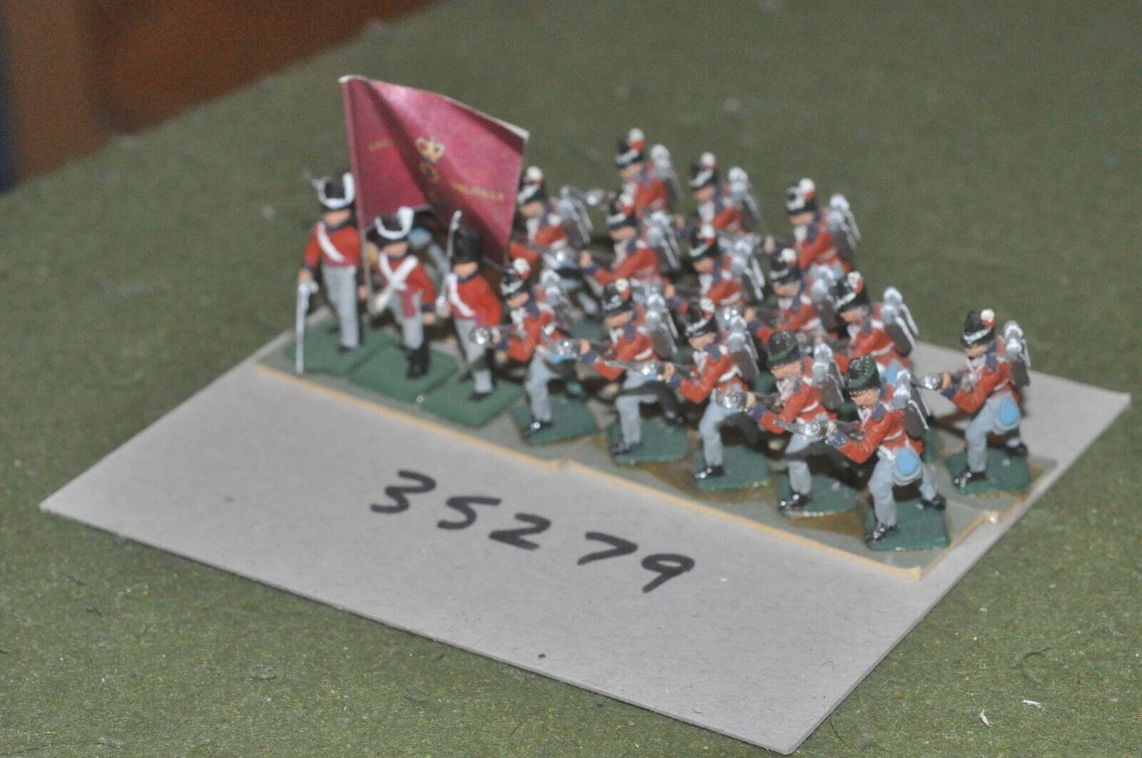 25mm napoleonic   british - line 19 figures - inf (35279)