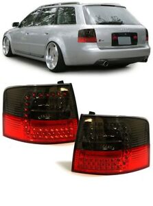 Smoked Led Rear Lights Lamps For The Audi A6 C5 Avant