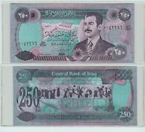 Image Is Loading Saddam Iraqi 250 Dinar Note 034 Old Circulated