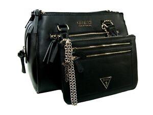 6c5b1e055 Guess Logo Purse Hand Bag Crossbody Satchel & Big Wristlet Set 2 ...