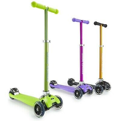 Zoom Childrens/Kids 3 Wheel Mini Tri-Scooter Move'n Groove Ride-on Glider Green